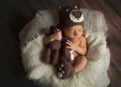 Baby Elliot sleeping - Morgan Harrison Photography