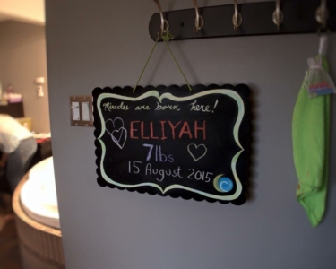 Baby Elliyah welcome sign by Jennifer N. @ Joi by Jen Photography