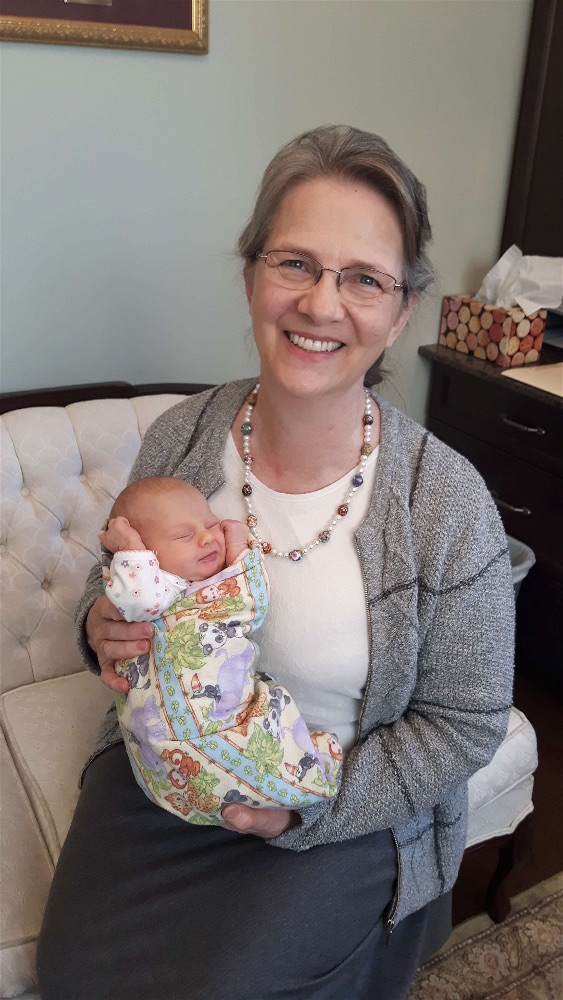 JoySpring practice lead Cathy Harness with baby Hannah
