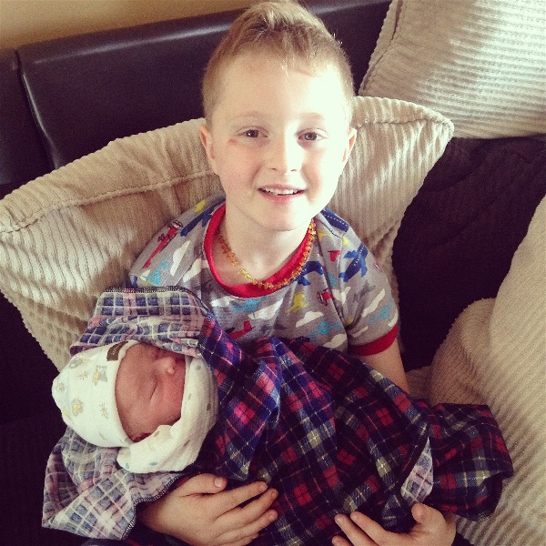 Baby Reid and brother
